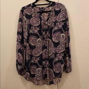 Lucky Brand Paisley Blouse